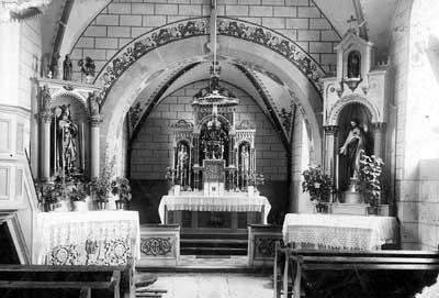 Bild: Innenansicht der alten Kirche
