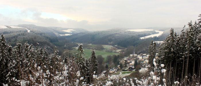 Bild: Blick auf Welchenhausen im Winter